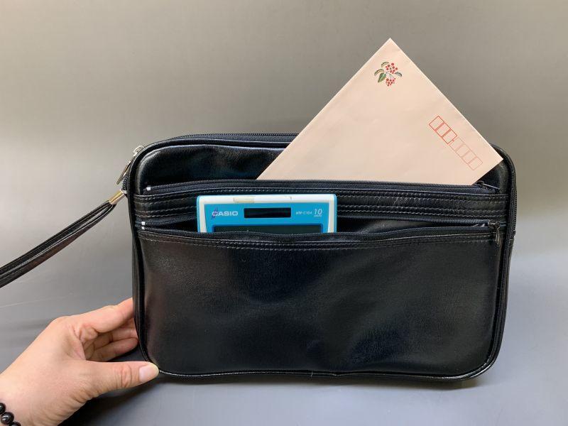 画像1: 薄型手さげかばん(集金鞄)29cm (1)